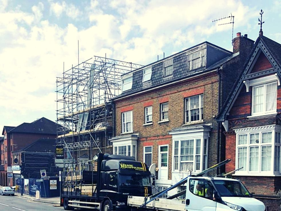 Our Recent Scaffolding Job, all completed by certified and trained employees. Magic Scaffolding for the most demanding jobs.